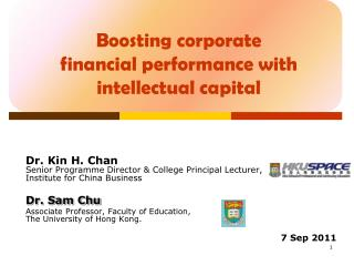 Boosting corporate financial performance with intellectual capital