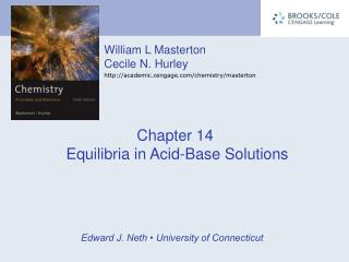 Chapter 14  Equilibria in Acid-Base Solutions