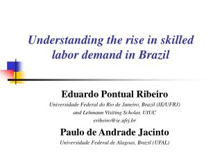 Understanding the rise in skilled labor demand in Brazil