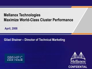 Mellanox Technologies Maximize World-Class Cluster Performance
