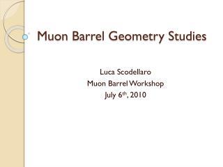 Muon  Barrel Geometry Studies