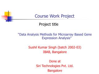 Course Work Project