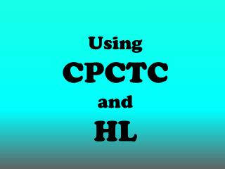 Using  CPCTC and  HL