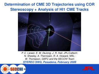 Determination of CME 3D Trajectories using COR Stereoscopy + Analysis of HI1 CME Tracks