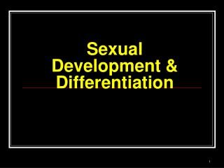 Sexual Development & Differentiation