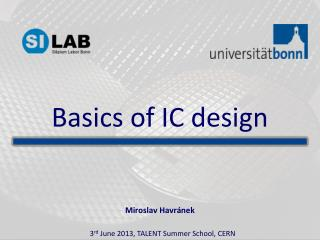 Basics of IC design