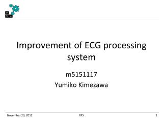 Improvement of ECG processing system