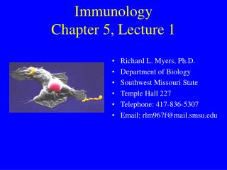 Immunology Chapter 5, Lecture 1