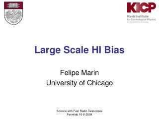 Large Scale HI Bias