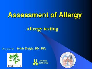 Assessment of Allergy