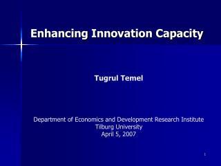 Enhancing Innovation Capacity