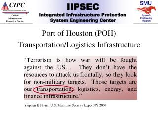 Port of Houston (POH) Transportation/Logistics Infrastructure
