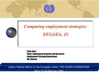Comparing employment strategies:  EES,GEA, JS