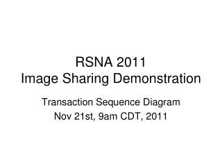 RSNA 2011  Image Sharing Demonstration