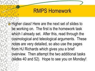 RMPS Homework