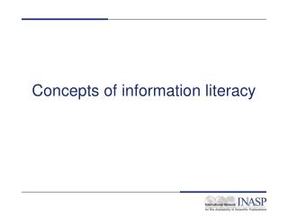 Concepts of information literacy