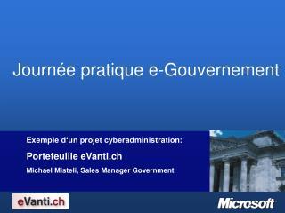 Objectifs du projet eVanti.ch:
