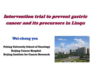Intervention trial to prevent gastric cancer and its precursors in Linqu