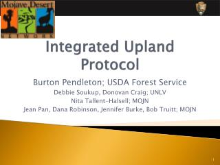 Integrated Upland Protocol