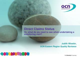 Judith Wheeler, OCN Eastern Region Quality Reviewer