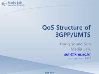 QoS Structure of 3GPP/UMTS