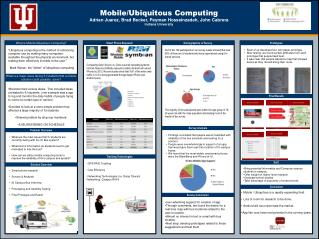 Mobile/Ubiquitous Computing Adrian Juarez, Brad Becker, Peyman Hosseinzadeh, John Cabrera