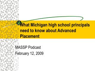 What Michigan high school principals need to know about Advanced Placement