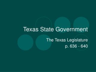 Texas State Government