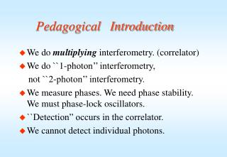 Pedagogical   Introduction