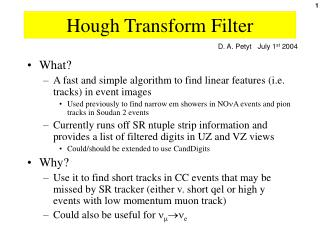 Hough Transform Filter