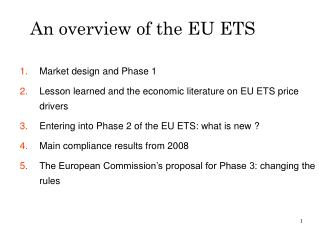 An overview of the EU ETS