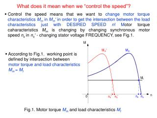 """What does it mean when we """"control the speed""""?"""