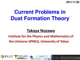 Current Problems in  Dust Formation Theory