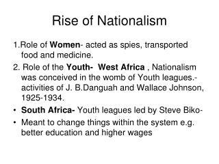Rise of Nationalism