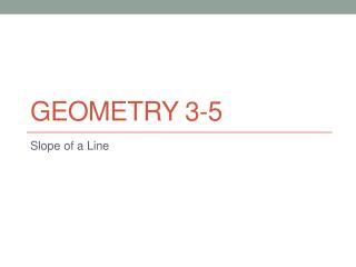 Geometry 3-5