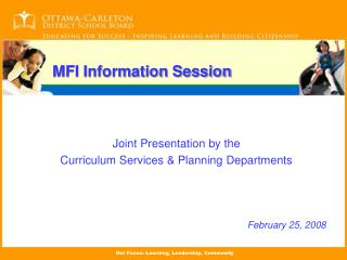 MFI Information Session