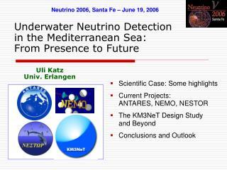 Underwater Neutrino Detection in the Mediterranean Sea: From Presence to Future