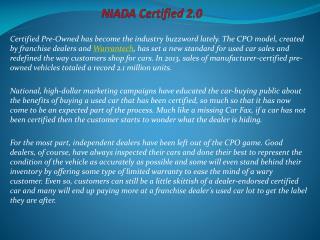 NIADA Certified 2.0