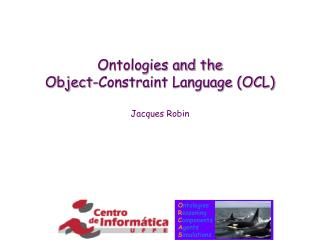 Ontologies and the Object-Constraint Language (OCL)