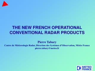 The French operational radar network