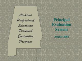 Alabama Professional Education Personnel Evaluation Program