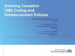 Smoking Cessation CMS Coding and Reimbursement Policies