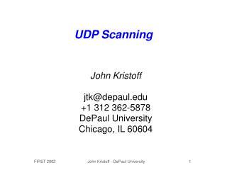 UDP Scanning