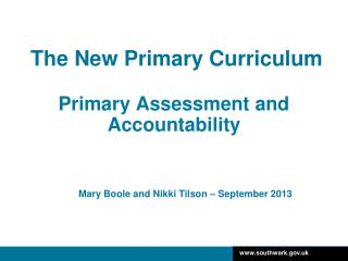 The New Primary Curriculum