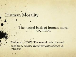 Human Morality