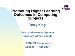 Promoting Higher Learning Outcomes in Computing Subjects