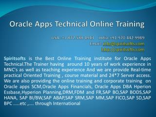 Oracle Apps Technical Online Training | Oracle Apps Job supp