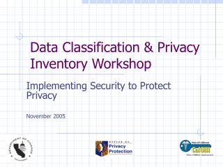 Data Classification  Privacy Inventory Workshop