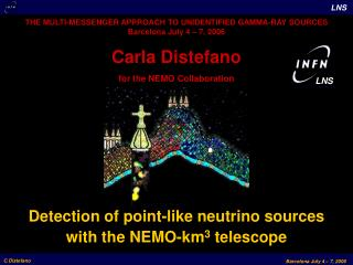 Carla Distefano for the NEMO Collaboration