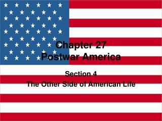 Chapter 27 Postwar America